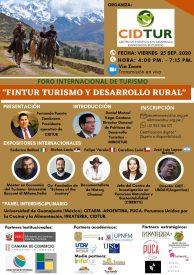 """Foro Internacional de Turismo: """"Turismo y Desarrollo Rural"""" 2020"""